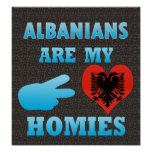 Albanians are my Homies Print