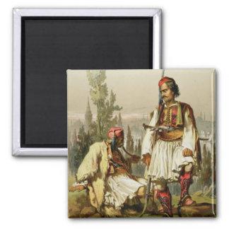 Albanians, mercenaries in the Ottoman army, pub. b 2 Inch Square Magnet