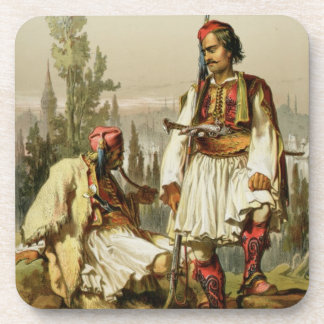 Albanians, mercenaries in the Ottoman army, pub. b Beverage Coasters