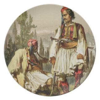 Albanians, mercenaries in the Ottoman army, pub. b Dinner Plates
