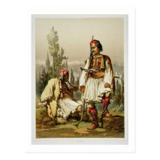 Albanians, mercenaries in the Ottoman army, pub. b Postcard