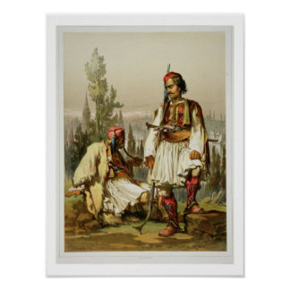 Albanians, mercenaries in the Ottoman army, pub. b Poster