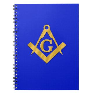 Albañil - azul masónico cuadernos