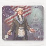 Albañil de George Washington Alfombrillas De Raton