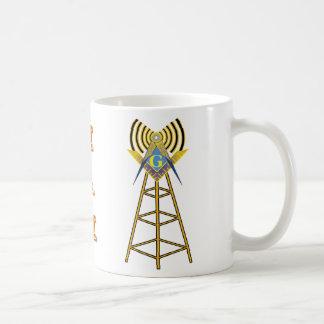 Albañil del equipo de radio-aficionado taza básica blanca