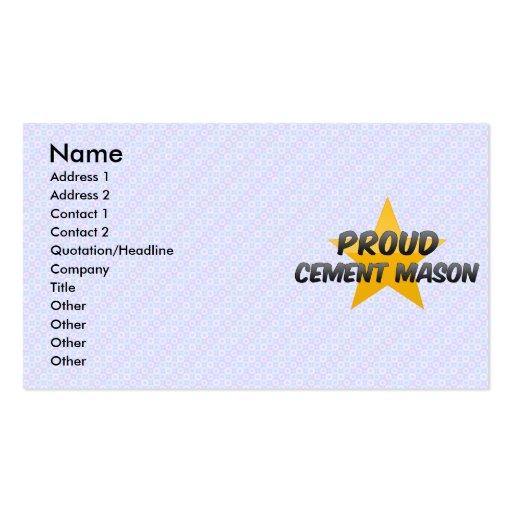Albañil orgulloso del cemento tarjetas de visita
