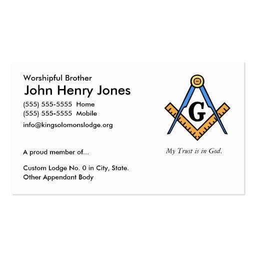 Albañil principal tarjetas personales