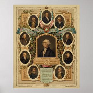 Albañiles distinguidos de la revolución americana póster
