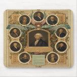 Albañiles distinguidos de la revolución americana tapetes de ratones