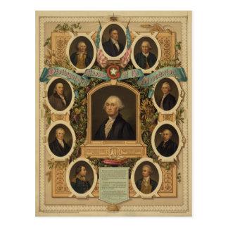 Albañiles distinguidos de la revolución americana postal