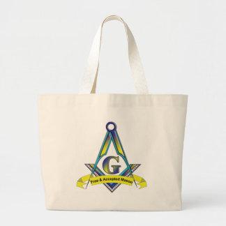 Albañiles libres y aceptados bolsa tela grande