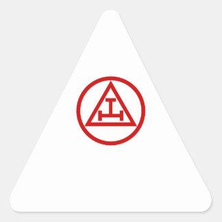 ALBAÑILES REALES DEL ARCO CIRCULARES PEGATINA TRIANGULAR