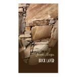 Albañiles, tarjetas de visita de piedra de los tra