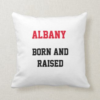 Albany Born and Raised Throw Pillow