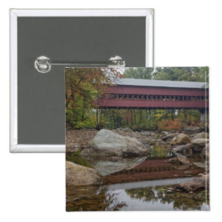 Albany Bridge, just off the Kancamagus 2 Inch Square Button