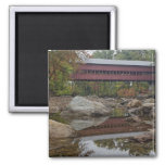 Albany Bridge, just off the Kancamagus 2 Inch Square Magnet