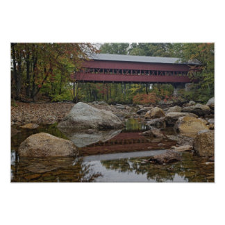 Albany Bridge, just off the Kancamagus Poster