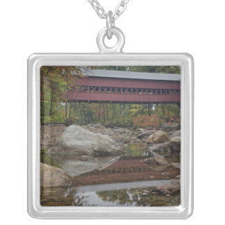 Albany Bridge, just off the Kancamagus Square Pendant Necklace