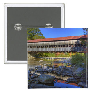 Albany covered bridge over Swift River, White Button