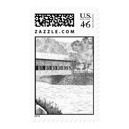 Albany Covered Bridge Postage Stamps