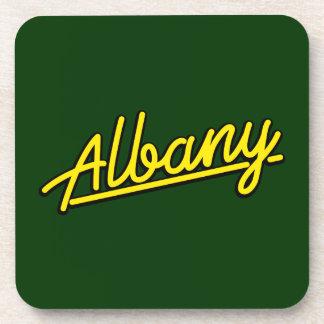 Albany en amarillo posavasos de bebida
