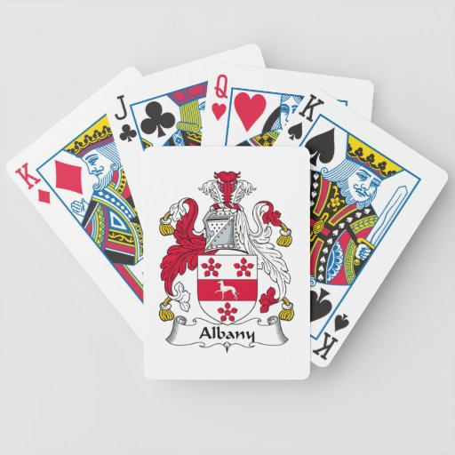 Albany Family Crest Bicycle Playing Cards
