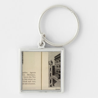 Albany Garage The Ten Eyck Silver-Colored Square Keychain
