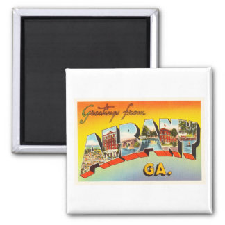 Albany Georgia GA Old Vintage Travel Postcard- 2 Inch Square Magnet