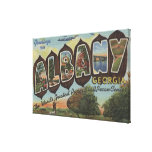 Albany, Georgia - Large Letter Scenes Gallery Wrapped Canvas