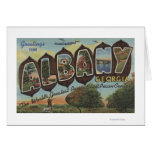Albany, Georgia - Large Letter Scenes Greeting Card