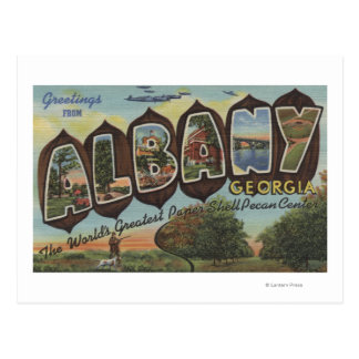 Albany, Georgia - Large Letter Scenes Postcard