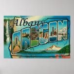 Albany, letra ScenesAlbany de OregonLarge, O Poster