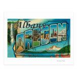 Albany, letra ScenesAlbany de OregonLarge, O Postal