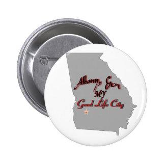 Albany - MY Good Life City Pinback Button