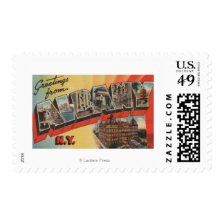 Albany, New York - Large Letter Scenes 2 Postage