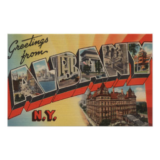 Albany, New York - Large Letter Scenes 2 Poster