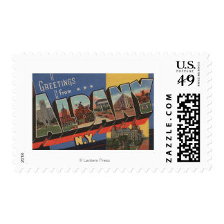 Albany, New York - Large Letter Scenes Postage