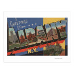 Albany, New York - Large Letter Scenes Postcard