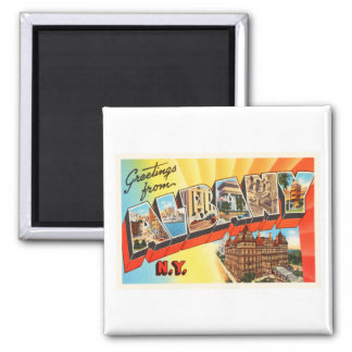 Albany New York NY Old Vintage Travel Souvenir Magnet