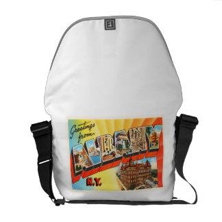 Albany New York NY Old Vintage Travel Souvenir Messenger Bag