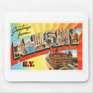 Albany New York NY Old Vintage Travel Souvenir Mouse Pad