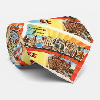 Albany New York NY Old Vintage Travel Souvenir Neck Tie