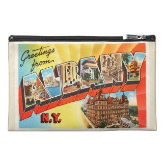 Albany New York NY Old Vintage Travel Souvenir Travel Accessory Bag