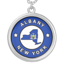 Albany New York Silver Plated Necklace