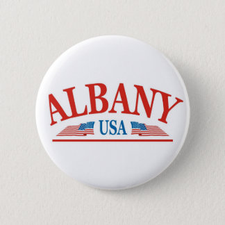 Albany New York USA Pinback Button