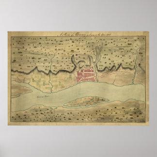 Albany NY 1758 Poster