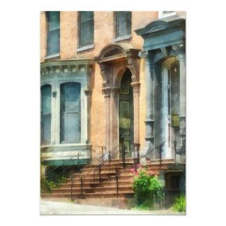 Albany NY Brownstone Card