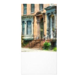 Albany NY Brownstone Customized Photo Card