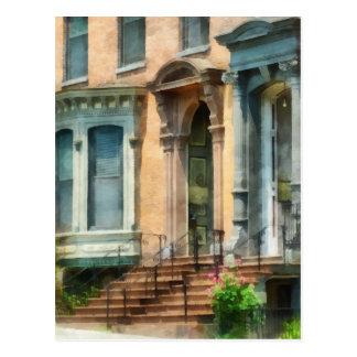 Albany NY Brownstone Postcard