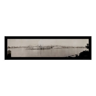 Albany NY Waterfront Photo 1909 Poster